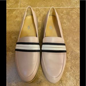 Dr Scholls light pink leather loafers size 7